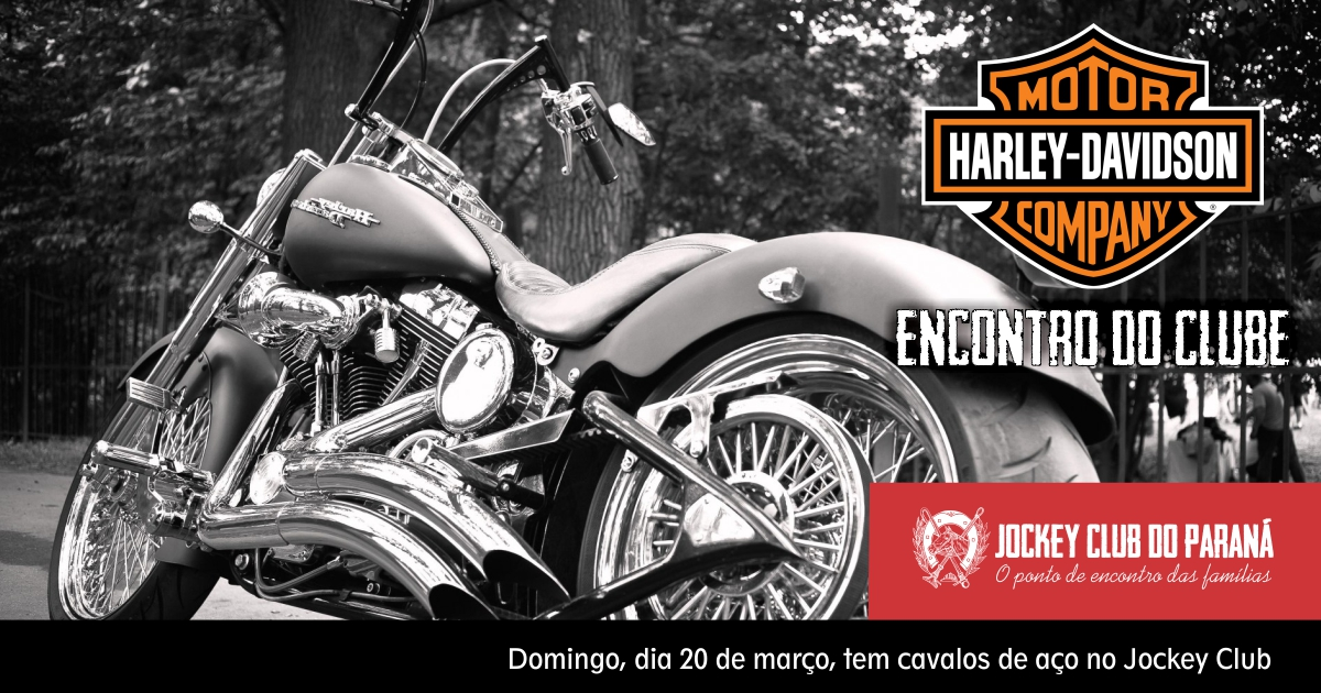 Encontro de Harleys no Jockey, domingo