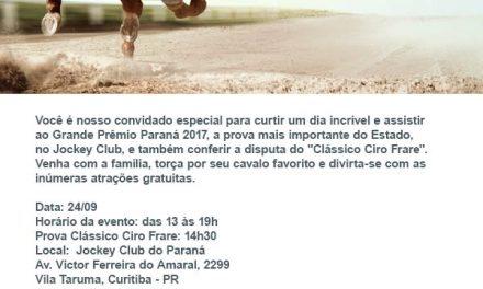 Divulgação do GP Paraná Jockey Plaza para os clientes Divesa