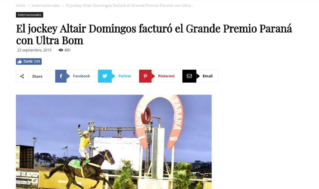 #NaMídia Internacional: GP Paraná Jockey Plaza é destaque no Jornal Turf Diário